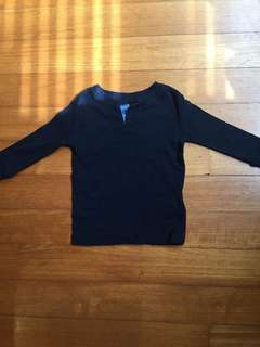 Gap long sleeve Henley 12-18m