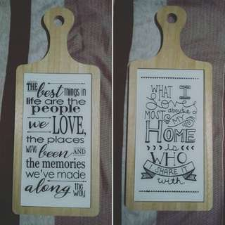 Chopping board wall decor