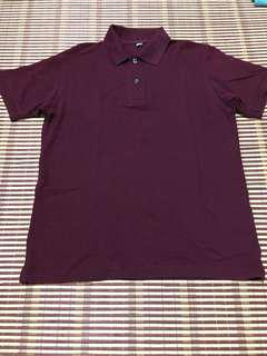Uniqlo Polo Tee (Maroon)