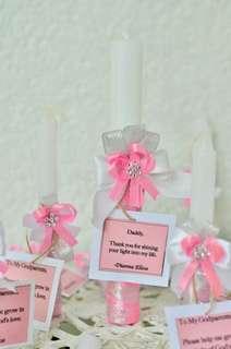 Customized Baptismal Candles