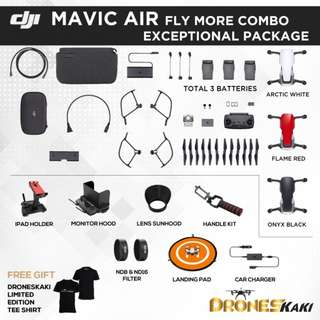 DJI MAVIC AIR FLY MORE COMBO EXCEPTIONAL PACKAGE
