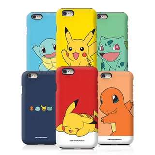 韓國正品pokemon蘋果8 plus iPhoneX三星note8卡通雙層防摔外殼
