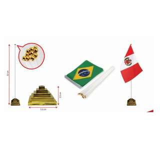 Table Flag -Pyramid Gold Stand (FGFG-3163)