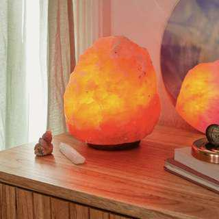 🚚 Authentic Himalayan Salt Lamp | with marble base and high quality, long lasting bulb | Chromotherapy soothes and relax | Natural Anti bacterial properties cleanse and purify | 2@$70 with free delivery