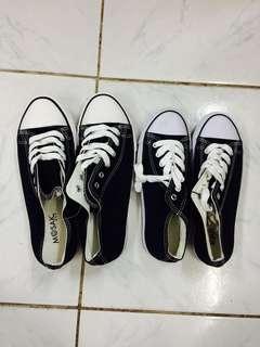 Couple Black Converse Style Shoe