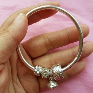 純銀手環(實心)