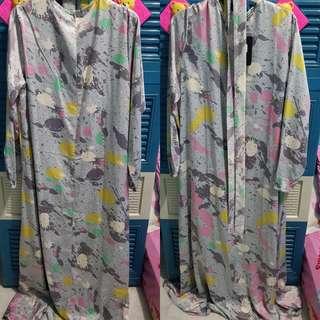 Browknot Printed Gamis Dress by Zumara