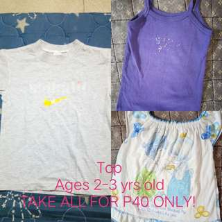 Take all - Kid's Top for 2-3 yrs old