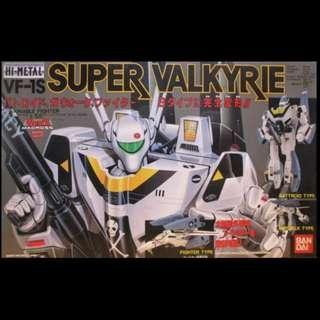 Vintage VF-1S Bandai Macross Robotech Japan Super Valkyrie Fighter 1/55 Hi-metal Popy Takatoku Roy Focker