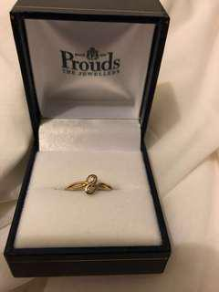 Prouds gold toe ring