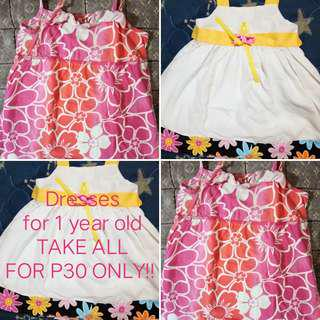 2 Dresses for 1 yr old