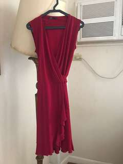 Red Dress Wrap Around