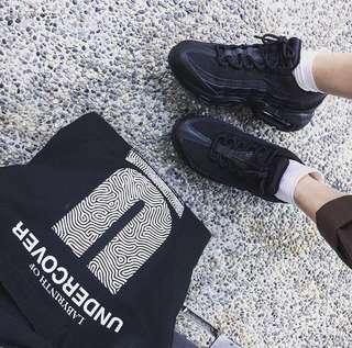 Nike airmax95 日本帶回 運動鞋 24 黑色 九成新