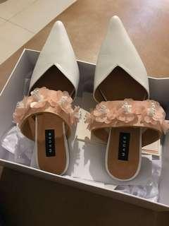 "Jual Sepatu Mader Pink Smooties-Mules ""NEW"". This shoes is 1 size smaller jadi size 38 ini utk yg pakai size 37 ya :)"