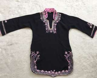 Embroidered Tunic or Indian Costume for Toddler