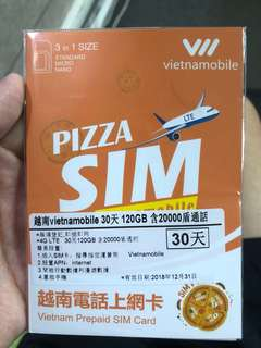 越南30天上網卡