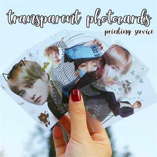 [PRINTING SERVICE] TRANSPARENT PHOTOCARDS