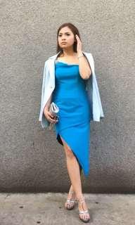 Karimadon Blue off shoulder dress