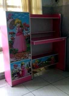 Meja Belajar Anak Jasmine MB 812 PMR Pink