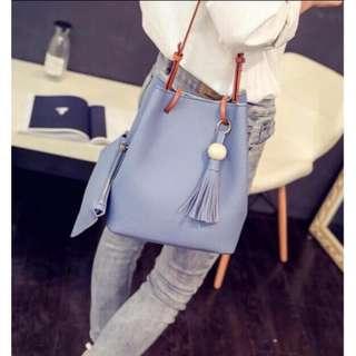 Bucket Bag (Black, Pink, blue)