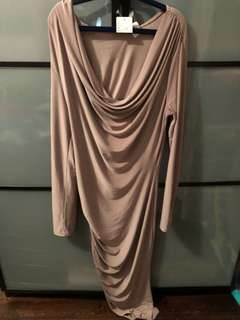 Beige Summer Night Out Dress