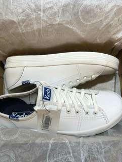 KEDS Kickstart Retro Court Leather White Sneakers