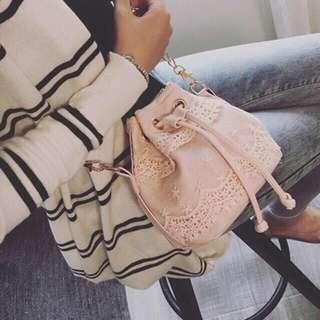 Tassle bag (Black, gray, peach)