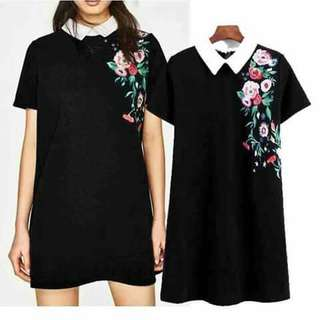 🎀Casual Embroidery colar dress🎀