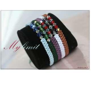 水晶彩晶繩結手環