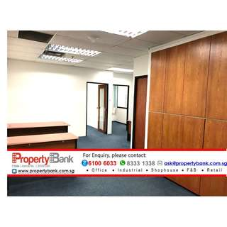 Fitted Office at CBD Raffles, Facing Swimming Pool, walk from Telok Ayer/ Tanjong Pagar MRT