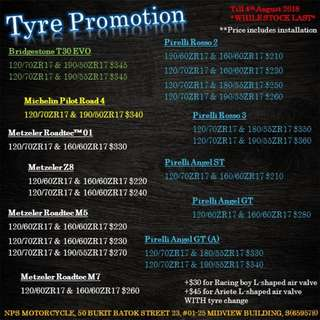 Tyres Promotion