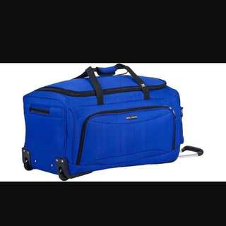 Authentic Delsey Duffel Trolley Luggage Blue