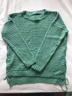 BooHoo Green Knit Jumper