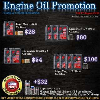 Engine Oil Promotion