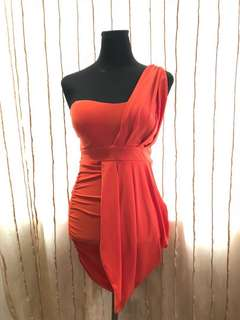 Vermillion Drape Dress