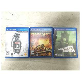 BUY 2 FREE 1 GAMES RESISTENCE UNIT 13 GRAVITY RUSH RM200 only!! PS VITA