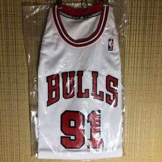 Men's Dennis Rodman Chicago Bulls Hardwood Classics Swingman Adidas Jersey Size M
