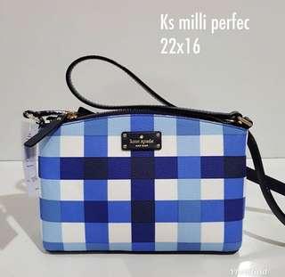 Kate Spade Millie Checker Blue