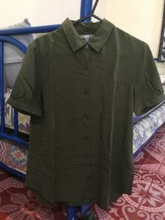 Uniqlo Women Rayon Short Sleeve Blouse