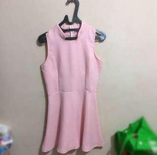 Soft Pink Dress Sleeveless