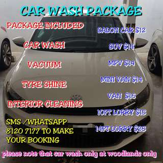 car wash package ¥