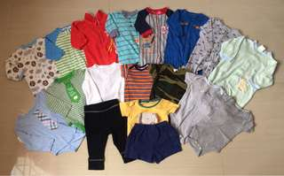 Assrtd clothes for 0-6mos baby boy