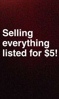 Sale on everything I've listed
