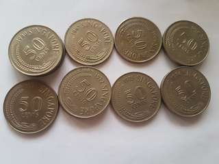 50 cents coin Singapore (first series)