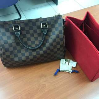 preloved louis vuitton Speedy 30 Bandouliere Damier Ebene