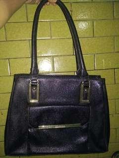 Ann Klein Black leather shoulder bag
