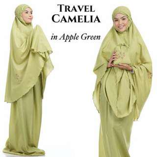 🚚 Telekung Travel Camelia (Apple Green)