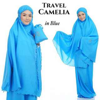 🚚 Telekung Travel Camelia (Blue)