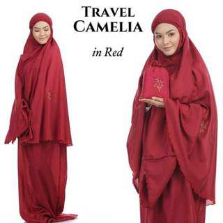 🚚 Telekung Travel Camelia (Red)