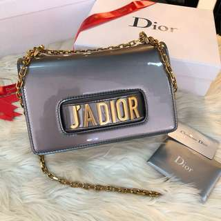 JDIOR FLAP BAG METALLIC CALFSKIN